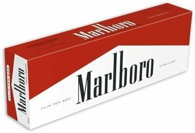 10 packs unopened USA Marlboro Red box cigarettes Collectible free shipping