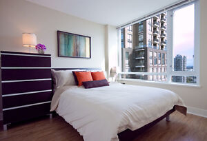 YALETOWN Pet Friendly One Bedroom & Den Modern Furnished Condo