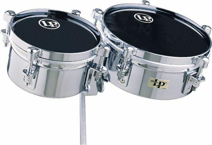 "LP Latin Percussion 6"" & 8"" Mini Timbales & Mounting Bracket"