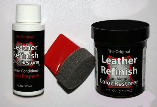 WHITE ~ 3 piece KIT ~ LEATHER Refinish COLOR RESTORER TM ~ We are the ORIGINAL!