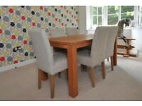 Dining room table and 6 fabric chairs