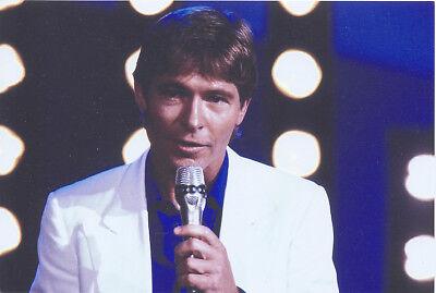 Foto amerikanischer Sänger JOHN DENVER Pressefoto Aufnahme von 1986 Folk Country