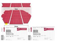 2x FRONT ROW TICKETS - Wonderland musical Palace Theatre tonight 26th....