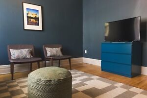 Renovated, furnished 2-floor 5BD, in Plateau