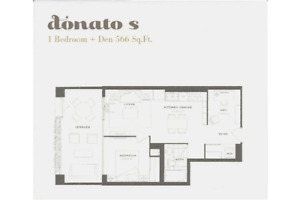 Sunny South Facing One Bedroom And Den Donato S Model