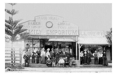 PORT MACQUARIE Jacob Healey's Store1st view circa 1890 modern digital (Macquarie Stores)