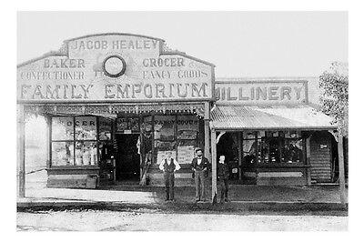 PORT MACQUARIE Jacob Healey's Store 2nd view circa 1890 modern digital (Macquarie Stores)