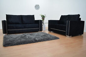 Abbey Sofa in Crushed Velvet (Any Colour) - Read Description