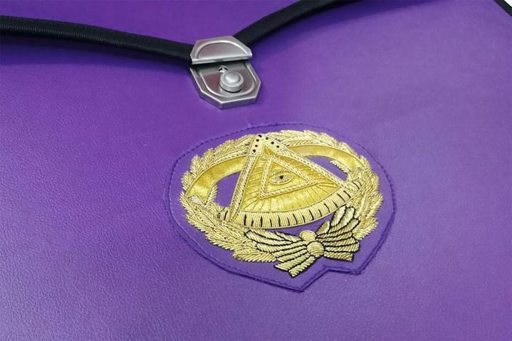 Masonic MM/WM and Provincial Full Dress Grand Master Purple Cases II 1