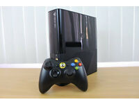 XBOX 360 s NEWEST MODEL 250GB WITH 140 BOXED GAMES PLUS 30 OTHERS NOT BOXED.