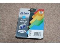 Epson Cyan T0422 Genuine Ink Cartridge (BNIP)