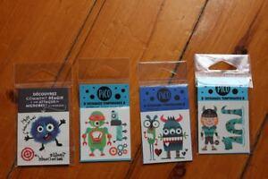 Lot 4 sachets tatouages temporaires PICO pour enfants