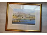 Arisaig, Inverness by K W Burton Gold Framed Print 22 x 18 inches