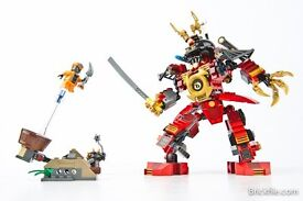 70500 kai,s fire and 9448 samurai mech built complete instruction booklets included but no boxes