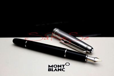 """Montblanc Solitaire Doue Fountain Pen Stainless Steel 18kt. """" F - New"""