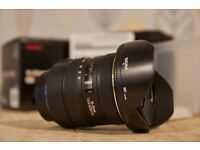 Sigma 10-20mm f/3.5 EX DC wide angle lens for Canon.