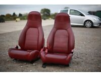 RARE MAZDA MX5 MK1/MK2 S-LTD LEATHER SEATS WITH SPEAKERS