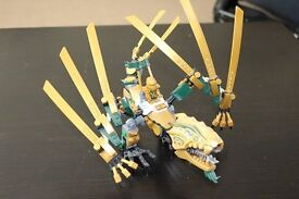 used lego golden dragon brill condition used lego golden dragon in brill contition