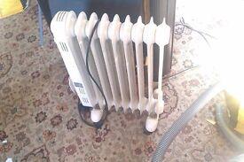 White oil filled radiator
