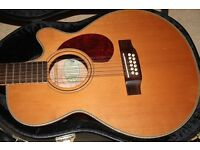 Hudson Firefly 12 electo acoustic guitar with case