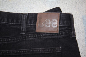Mens Lee Jeans black 2 pairs pre wrangler old school style