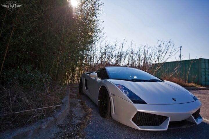 04-08 Lamborghini Gallardo Lp560 Front Bumper With Grills And Carbon Fiber Lip
