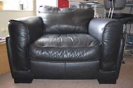 Black Leather Armchair