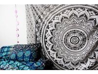 Vintage Indian Wall Hanging Mandala Tapestry Gypsy Hippie Bedspread Throw