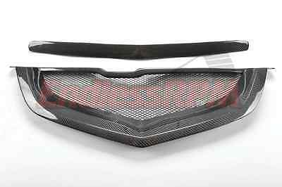 Acura TL 04 05 06 07 08 Mesh Shark Mouth Front Grill - Carbon Fiber SHIP FROM US