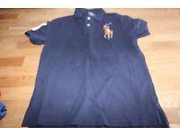 Boys Ralph Lauren navy polo shirt