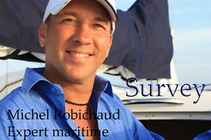 Survey , Expertise maritime 12,75$ du pied déplacement inclus