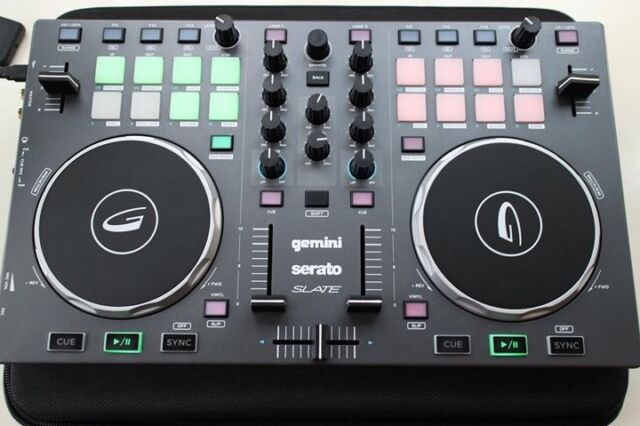 Portable 2-channel DJ controller Gemini Slate compatible with Serato,  Virtual DJ with a case | in Loughborough, Leicestershire | Gumtree