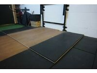 Weight Lifting Platform 5.5ft x 8ft - 25mm thick - ideal for home gym or commercial