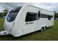 2014 Sterling Elite Searcher 4 Berth Caravan Fixed Bed