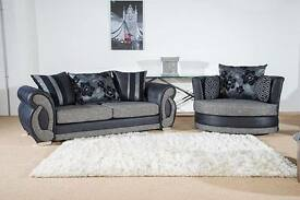 sofa set brand new fabric sofa set £450