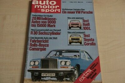 1) AMS 05/1975 - Renault R 30 TS mit 131PS in e - Rolls-Royce Camargue im TEST a