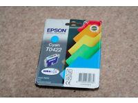 Epson Cyan T0422 Genuine Ink Cartridge (BNIB)