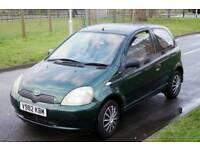 Toyota Yaris 57k miles + elec Windows/steering+sunroof+Sony USB/mp3 +hpi clear