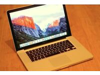 Apple MacBook Pro - Core i7 2.66 GHz - 15″ - 4 GB Ram Intel HD Graphics 288 MB Used laptop