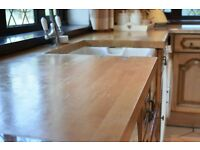 country style kitchen with solid wood doors selling for amazing low price.