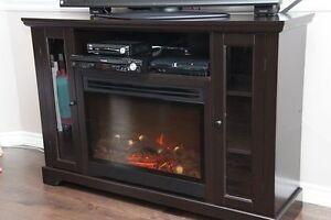meuble de television avec foyer