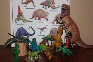 Très beau dinosaures différents avec des sons et grande affiche