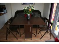 Foldable dining table + 4 chairs - MUST GO ASAP