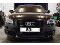 Audi A3 black edition quattro sline 170 tdi, vgc with 1 year+ warranty remaining (transferable)