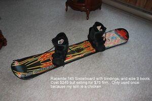 Raceride Board, Bindings and Boots