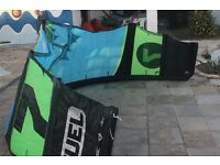 SLING SHOT FUEL 7-9M KITESURFING KITES 2015 GOOD CONDITION