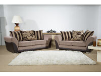 BRAND NEW VERMONT BISCUIT 3 + 2 SOFA SET - FAST FREE U.K DELIVERY