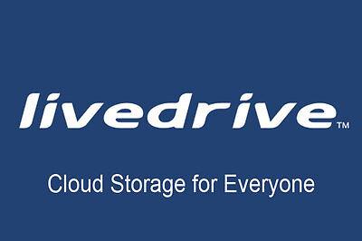 Livedrive Online Cloud Backup Storage 1 Year  Unlimited Data Windows/Mac