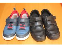 boys shoes clarks school casual 13F 13G leather with boxes great condition