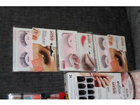 9 Boxes of Nails & 3 sets of False Eye Lashes - NEW in box. (worth over £75)